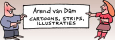 Arend van Dam - Cartoons, Strips, Illustraties